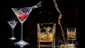 Alkoholów napoje Fotografia Royalty Free