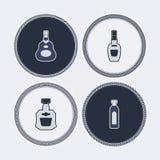 Alkohol butelki ilustracja wektor