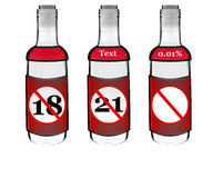 alkohol butelki royalty ilustracja
