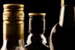 Alkohol dricker närbild Arkivbild