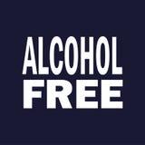 Alkohol frigör Vektor på mörker - blå bakgrund royaltyfri illustrationer