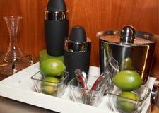 Alkohol-Getränk-Mitte-Werkzeuge Stockfotografie