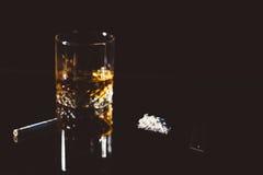 Alkohol i kokaina Fotografia Stock