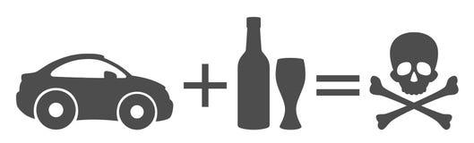 Alkohol im Strassenverkehr lizenzfreie abbildung