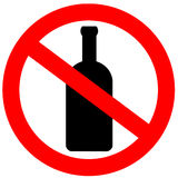 alkohol inget tecken Royaltyfri Foto