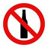 alkohol inget tecken royaltyfri illustrationer