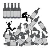 Alkohol niszczy związek Obrazy Stock