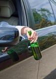 Alkohol- oder Drogenmissbrauch am Steuer Stockfoto