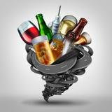 Alkohol- oder Drogenmissbrauch am Steuer stock abbildung