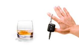 alkohol som kör nr.en Arkivfoto