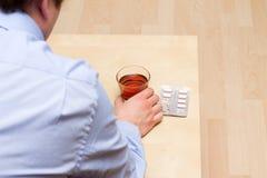 Alkohol-und Drogenmissbrauch Stockfotografie