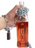 Alkohol und Hand Stockfotografie