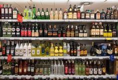 Alkohol- und liqoursupermarkt Stockfoto