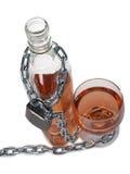 Alkohol- und Metallkette Lizenzfreies Stockbild
