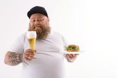Alkohol und Sandwich sind meine besten Freunde Stockbilder
