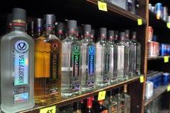 Alkohol - Verkauf der Alkohol-Tat Stockbild