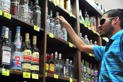 Alkohol - Verkauf der Alkohol-Tat Lizenzfreie Stockbilder