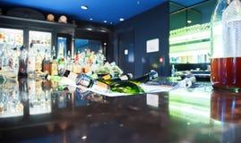 Alkohol w barze Obraz Stock