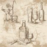Alkoholbilder för meny royaltyfri illustrationer