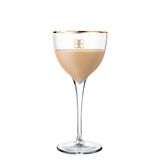 Alkoholcocktail Baileys lokalisiert auf weißem Hintergrund Lizenzfreie Stockfotografie