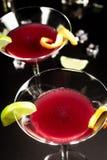 Alkoholcocktail kosmopolitisch stockbild