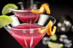 Alkoholcocktail kosmopolitisch stockfoto