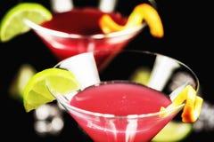Alkoholcocktail kosmopolitisch lizenzfreies stockbild