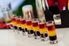 Alkoholcocktails Stockbild