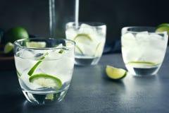 Alkoholcoctail med limefrukt Royaltyfria Bilder