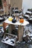 Alkohole für Verkauf auf dem Mittelaltermarkt Lizenzfreie Stockbilder