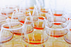 alkoholexponeringsglas Arkivfoton