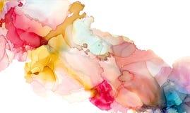 Alkoholfärgpulvertextur Fluid färgpulverabstrakt begreppbakgrund konst för design royaltyfri fotografi