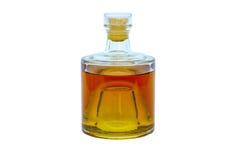 alkoholflaskexponeringsglas Arkivfoton