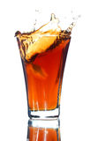 Alkoholfreies Getränk mit einem Spritzen Stockbilder