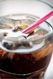Alkoholfreies Getränk mit Eis Stockbild