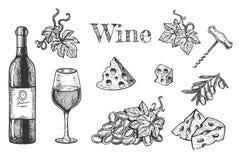 Alkoholgetränk und Startersatz stockfotos