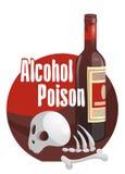 Alkoholgift Fasa-fylld bild Arkivbilder