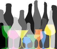 Alkoholhintergrund Lizenzfreies Stockfoto