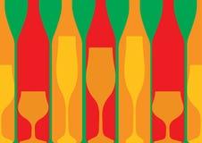 Alkoholiczka Prętowy menu royalty ilustracja