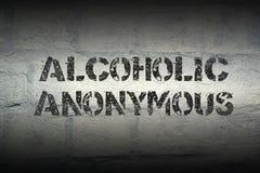 Alkoholiczny Anonimowy zdjęcie stock