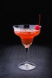 Alkoholiczny koktajl z wiśnią Zdjęcie Stock