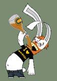 alkoholiczny królik royalty ilustracja