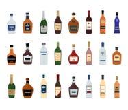 Alkoholicznych napojów butelki Fotografia Stock