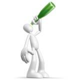 Alkoholiker des Zeichens 3d Stockfoto