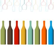 Alkoholiker füllt Hintergrund ab stock abbildung