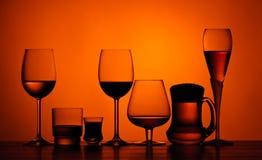 Alkoholische Getränke Stockfoto