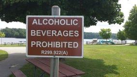 Alkoholische Getränke verboten Stockfoto