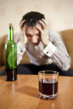 Alkoholisches Getränk. stockbild