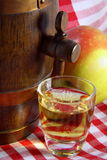 Alkoholisches Getränk des Apfels stockfotos