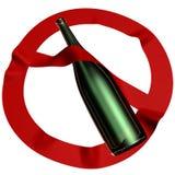 Alkoholisches Getränk ist verboten Stockbild
